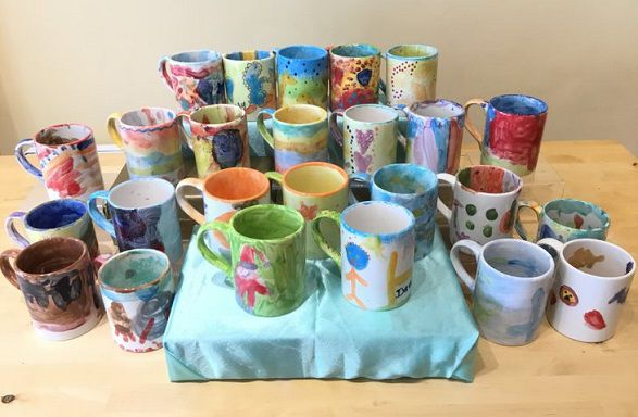 Beaver-groups-pottery-painted-mugs
