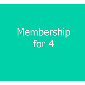 4 Person Family Membership - new