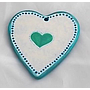 Small Heart Hanger (Vintage style) 8.9cm (hole)